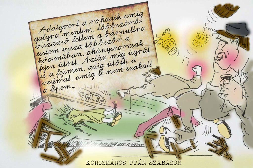 korcsmaros karikatúra