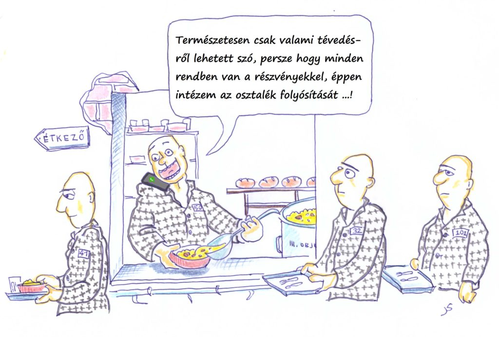 karikatúra - osztalék