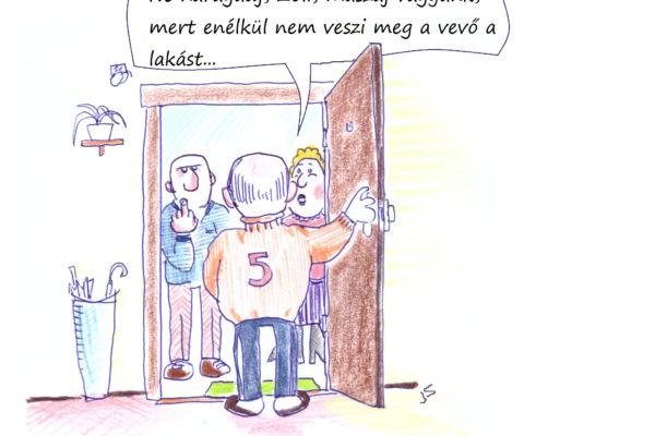 Karikatúra: bemutatás a szomszédnak